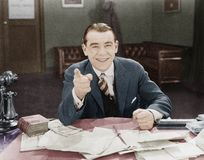 Retrato del hombre de negocios amistoso feliz (todas las personas representadas no son vivas más largo y ningún estado existe Gar Fotografía de archivo libre de regalías