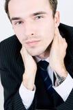 Retrato del hombre de negocios apuesto en juego Imagen de archivo libre de regalías