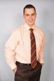 Retrato del hombre de negocios en camisa Imagen de archivo