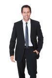 Retrato del hombre de negocios envejecido centro feliz foto de archivo libre de regalías