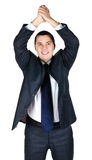Retrato del hombre de negocios feliz foto de archivo libre de regalías