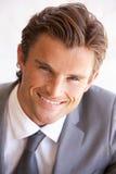 Retrato del hombre de negocios joven Foto de archivo