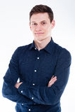 Retrato del hombre de negocios joven Imagen de archivo libre de regalías