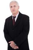 Retrato del hombre de negocios maduros grey-haired imagen de archivo