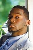 Retrato del hombre de negocios negro Imagen de archivo libre de regalías