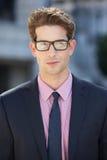 Retrato del hombre de negocios Outside Office Fotos de archivo