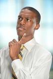 Retrato del hombre de negocios Thinking Fotografía de archivo