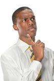 Retrato del hombre de negocios Thinking Fotografía de archivo libre de regalías