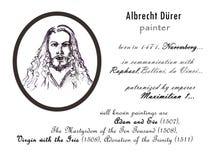 Retrato del hombre del dibujo de lápiz durer de Albrecht Fotos de archivo