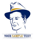 Retrato del hombre del sombrero Fotografía de archivo libre de regalías