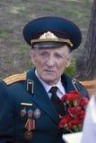 Retrato del hombre del veterano de guerra Imagen de archivo