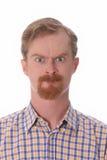 Retrato del hombre enojado Foto de archivo libre de regalías