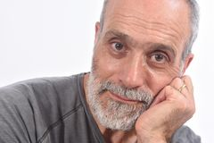 Retrato del hombre envejecido midle imágenes de archivo libres de regalías