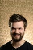 Retrato del hombre joven con la barba Imagenes de archivo