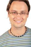 Retrato del hombre joven en vidrios Foto de archivo libre de regalías