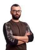 Retrato del hombre joven hermoso con la barba imagen de archivo libre de regalías