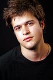 Retrato del hombre joven hermoso masculino Imagen de archivo