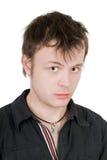Retrato del hombre joven ofendido Imagenes de archivo
