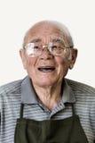 Retrato del hombre mayor sonriente Fotografía de archivo