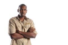 Retrato del hombre negro Foto de archivo