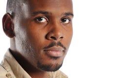 Retrato del hombre negro Fotos de archivo