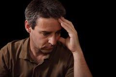 Retrato del hombre triste Imagen de archivo libre de regalías