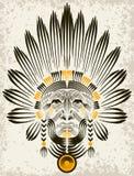 Retrato del indio americano. Fotografía de archivo