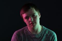Retrato del individuo pasivo del adolescente Fotos de archivo
