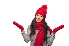 Retrato del invierno de la hembra hermosa Imagen de archivo libre de regalías