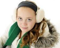 Retrato del invierno del tween Imágenes de archivo libres de regalías