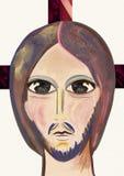 Retrato del Jesucristo Arte contemporáneo stock de ilustración