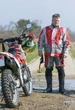 Retrato del jinete del motocrós Imagen de archivo