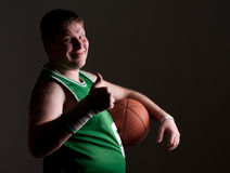Retrato del jugador de básquet Imágenes de archivo libres de regalías