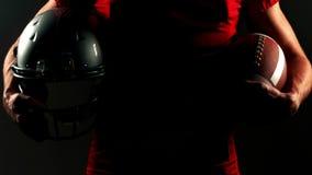 Retrato del jugador de fútbol americano almacen de video