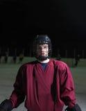 Retrato del jugador de hockey Imagen de archivo libre de regalías