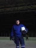Retrato del jugador de hockey Fotos de archivo libres de regalías