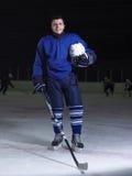 Retrato del jugador de hockey Imagen de archivo