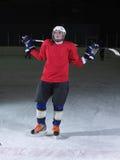 Retrato del jugador de hockey Foto de archivo libre de regalías