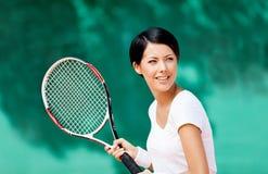 Retrato del jugador de tenis Fotos de archivo