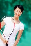 Retrato del jugador de tenis profesional Foto de archivo libre de regalías
