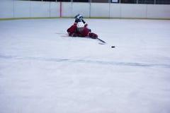 Retrato del jugador del hockey sobre hielo Foto de archivo