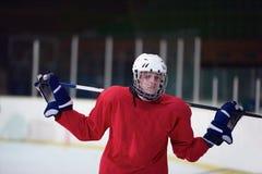 Retrato del jugador del hockey sobre hielo Foto de archivo libre de regalías