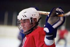 Retrato del jugador del hockey sobre hielo Fotos de archivo