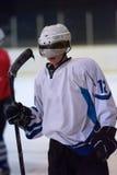 Retrato del jugador del hockey sobre hielo Imagen de archivo