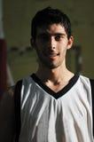 Retrato del jugador del juego de bola de la cesta Foto de archivo libre de regalías
