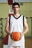 Retrato del jugador del juego de pelota de la cesta Fotos de archivo