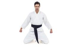 Retrato del jugador serio del karate Fotos de archivo libres de regalías