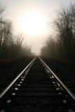 Retrato del largo camino a continuación - Fotografía de archivo