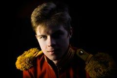 Retrato del lejb-Cossack imagenes de archivo