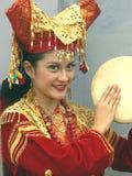 Retrato del músico indonesio fotos de archivo